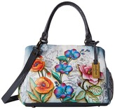 Anuschka 528 Triple Compartment Large Satchel Handbags
