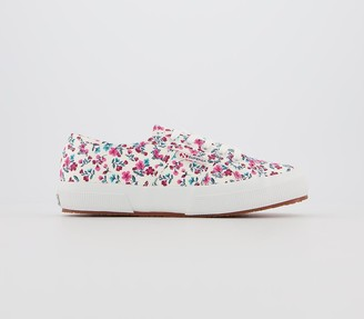 Superga 2750 Trainers Floral White Exclusive
