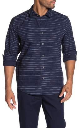 Ike Behar Striped Long Sleeve Shirt
