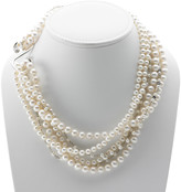 Artknot Madame Butterfly Sterling Silver Pearl Necklace by Cynthia Gale