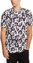 Disney Men's Mickey Mouse Grid Sublimation T-Shirt Large Multi-Coloured