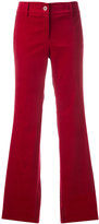 Michael Kors side stripe flared trousers - women - Cotton/Spandex/Elastane - 2