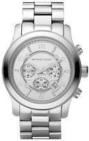MICHAEL Michael Kors Michael Kors 'Silvertone Oversize Iconic' Chronograph Watch, 45mm