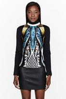 Peter Pilotto Blue & black patterned Amra Top