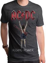 Goodie Two Sleeves Gray AC/DC Rising Power Fingers Tee - Men's Regular