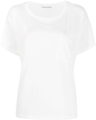 Alexander Wang chest-pocket short sleeve T-shirt