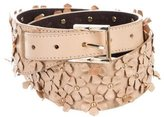 Tory Burch Floral-Accented Leather Belt