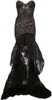 Oscar de la Renta lace strapless gown