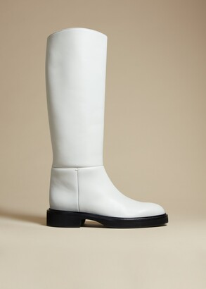 KHAITE The Derby Boot in White Leather