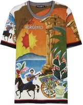 Dolce & Gabbana Agrigento Printed Cotton T-shirt