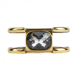 Alexander McQueen Gold Steel Rings