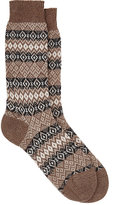 Barneys New York Men's Fair Isle Cashmere-Blend Socks