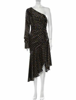 HANEY Silk Knee-Length Dress Black