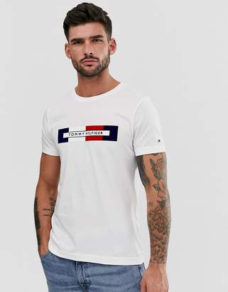 Tommy Hilfiger chest box logo t-shirt in white