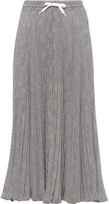 Miu Miu Prince of Wales pleated skirt