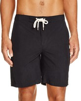 Solid & Striped Drawstring Swim Trunks