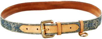 Louis Vuitton Denim Belt, Size 90