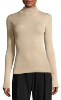 3.1 Phillip Lim Metallic Rib-Knit Turtleneck Pullover Sweater