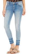 Miss Me Frayed Hem Stretch Denim Ankle Skinny Jeans