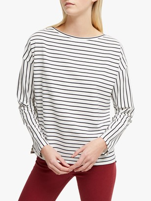 French Connection Rosana Tim Tim Striped Cotton T-Shirt