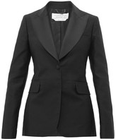Gabriela Hearst Serge Single-breasted Silk-blend Jacket - Womens - Black