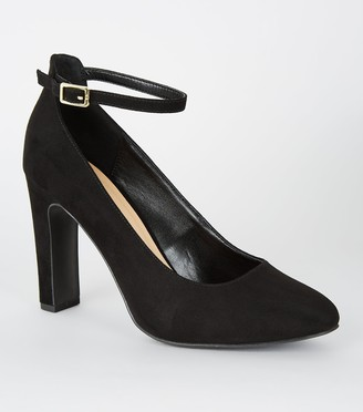 New Look Wide Fit Suedette Ankle Strap Courts