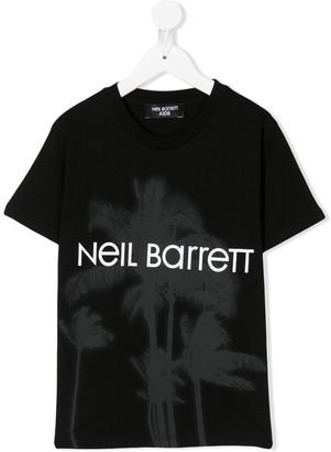 Neil Barrett Kids palm tree print T-shirt