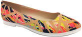Bamboo Taupe & Yellow Line Showstopper Flat