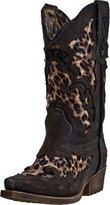 Laredo Western Boots Girls Sabre Leopard Underlay Brown LC2233