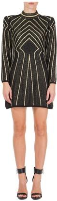 Alberta Ferretti Turtleneck Mini Dress