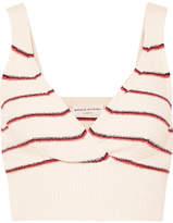 Sonia Rykiel Cropped Striped Cotton-blend Top - Cream