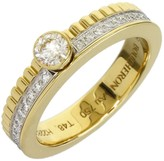 Boucheron Quatre 18K Yellow and White Gold 0.20 Ct Diamond Ring Size 4.75