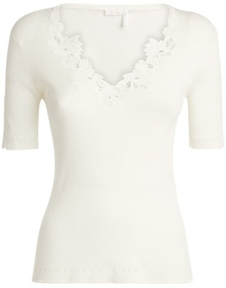 Chloé Knitted V-Neck Top