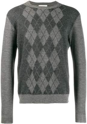 Pringle argyle fine knit sweater