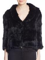 Joie Fayola Rabbit Fur Jacket