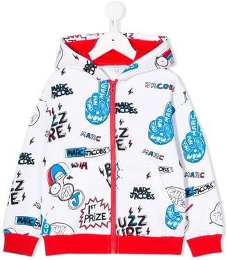 Little Marc Jacobs comic print zipped hoodie