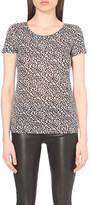 Claudie Pierlot Trefle Bis linen-blend t-shirt