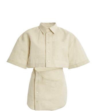 Jacquemus Arles Oversized Cutout Cotton-Linen Jacket