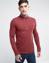 BOSS ORANGE by Hugo Boss Long Sleeve Marl Polo Shirt