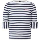 Tommy Hilfiger Tommy HilfigerGirls Navy Striped Peplum Sleeve Top