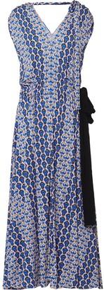 Prada Floral Print Midi Dress