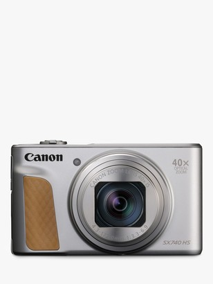 Canon PowerShot SX740 HS Digital Camera, 4K Ultra HD, 20.3MP, 40x Optical Zoom, Wi-Fi, Bluetooth, 3 Tiltable Screen