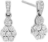 JCPenney FINE JEWELRY diamond blossom 1/10 CT. T.W. Diamond Earrings