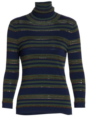 L'Agence Harlee Merino Wool-Blend Turtleneck Sweater