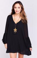 MUMU Nolita Mini Dress ~ Black Chiffon