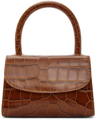 BY FAR Tan Croc Mini Bag