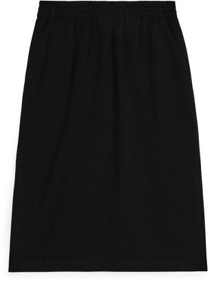 Arket Straight-Fit Jersey Skirt