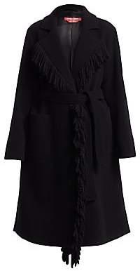 Marina Rinaldi Marina Rinaldi, Plus Size Women's Fringed Virgin Wool Blend Duster Coat