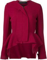 Roland Mouret zipped blazer - women - Wool - 10