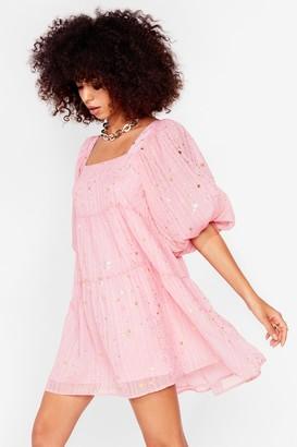 Nasty Gal Womens Star Light Tiered Mini Dress - Pink